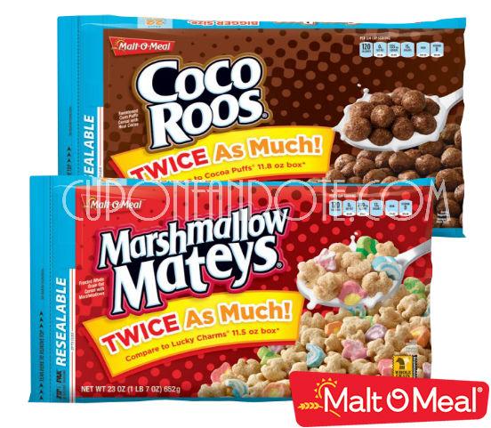 Gratis! Malt O Meal Cereal en Kroger