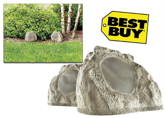 Insignia Simulated Rock Outdoor Speakers $49.99 at Best Buy