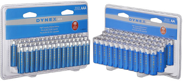 Dynex AA or AAA Batteries (48-Pack), ONLY $7.99 — Best Buy