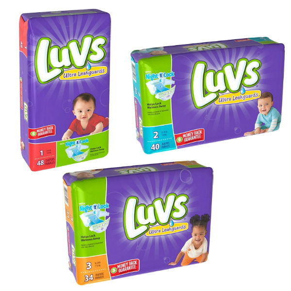 Luvs Jumbo Pack SOLO $4.50 en Dollar General