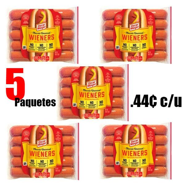Hot Dog Oscar Mayer Wieners SOLO $0.44 cada uno en Kroger