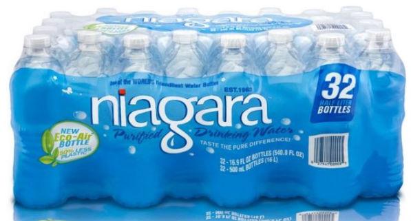 HOY 6/19/17 SOLAMENTE – Caja de Agua de 32 botellas SOLO $2.50 en Lowe's