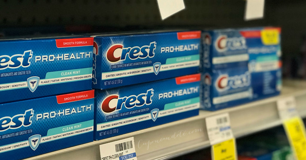 Pasta dental Crest GRATIS en CVS