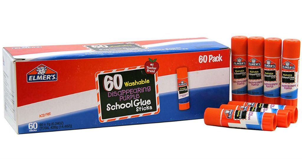 Caja de Pega Elmer's 60-Pack SOLO $13.34 (Reg $37.77)