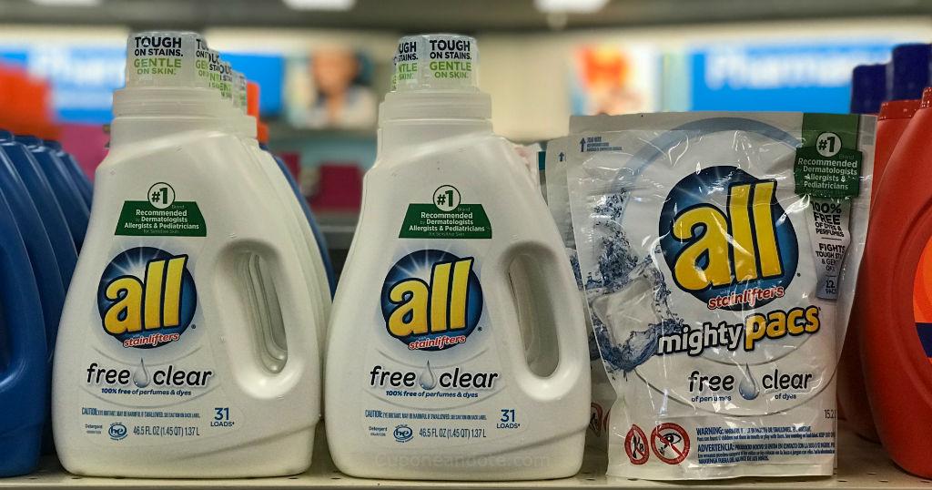 Detergente All o Suavizador Snuggle a solo $1.88 en Walgreens