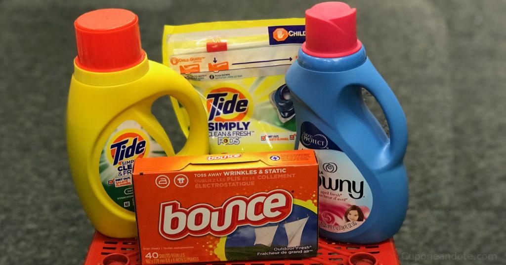 Tide Simply, PODS, Downy o Bounce Sheets a solo $1.94 en CVS