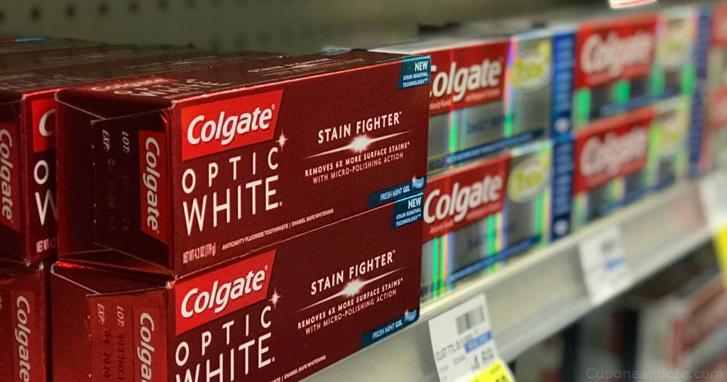 DOS Colgate Optic White GRATIS en CVS