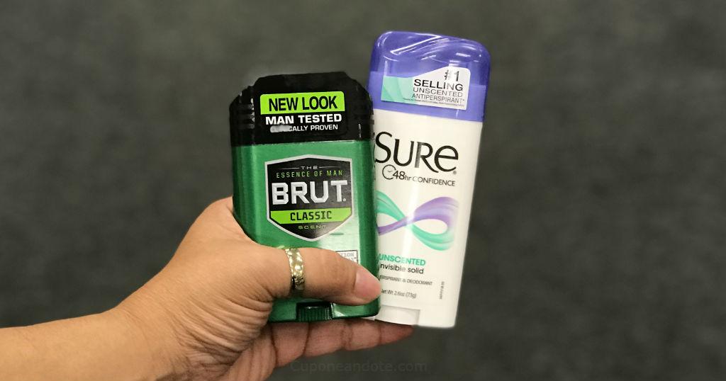 Desodorantes Sure o Brut GRATIS en CVS