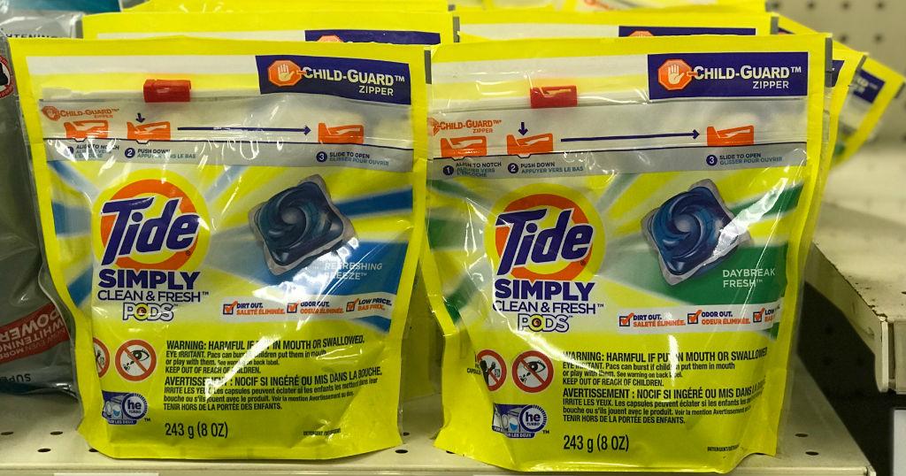 Tide Simply Pods a solo $2.49 en Rite Aid