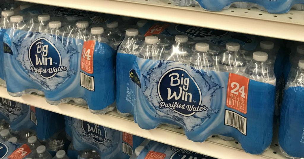 Caja de Agua Big Win 24 ct a solo $2.00 en Rite Aid
