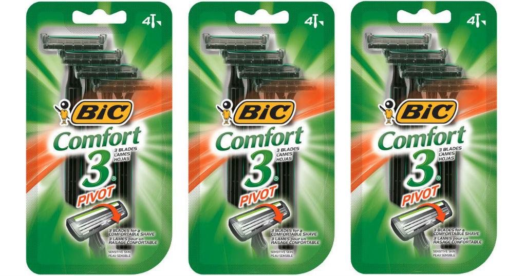 Rasuradoras Bic Comfort 3 Pivot a solo $0.50 en Family Dollar
