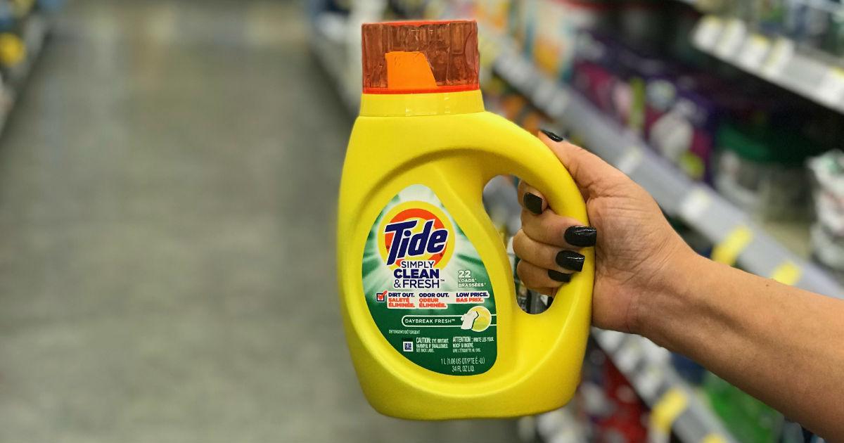 Detergentes Tide Simply SOLO $1.66 en Walgreens