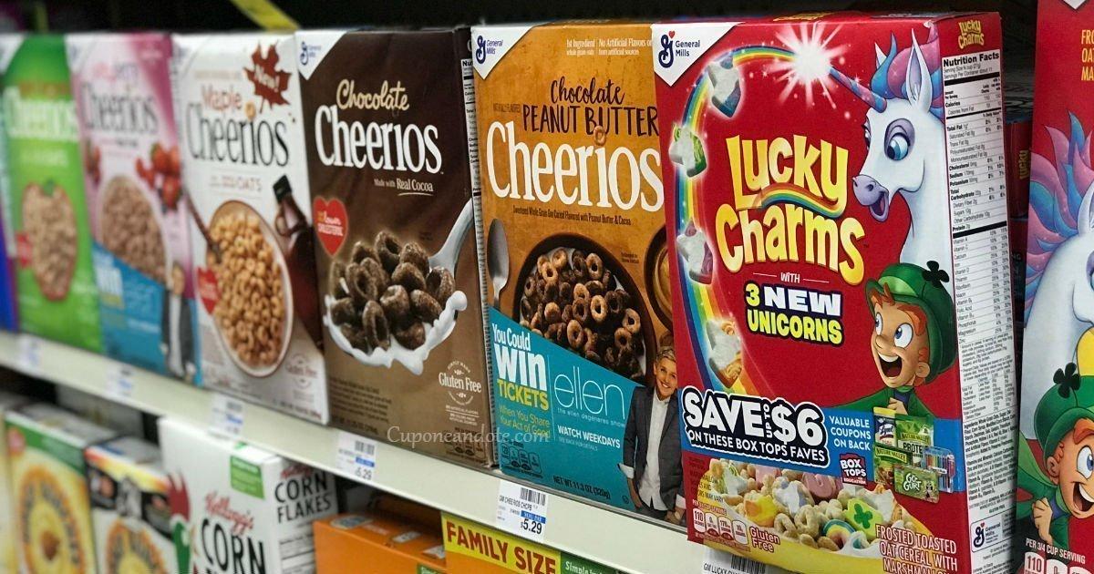 Cereales General Mills a solo $1.49 en CVS