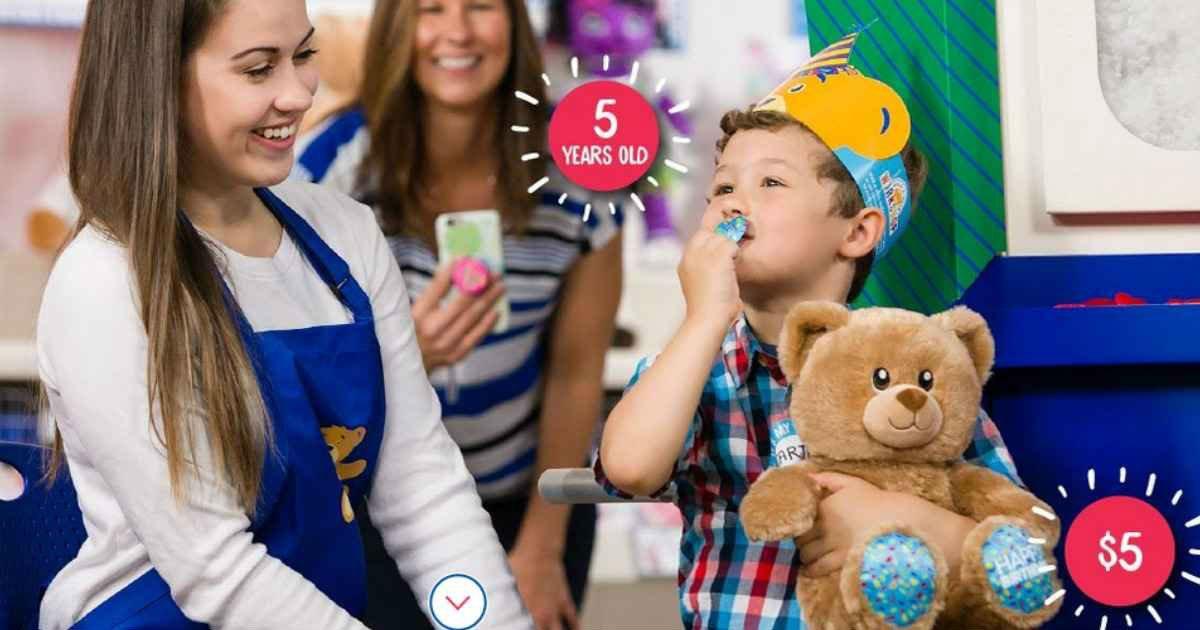 Lee más sobre el artículo Paga su Edad por el Oso de Cumpleaños en Build-A-Bear – Tan bajo Como $1