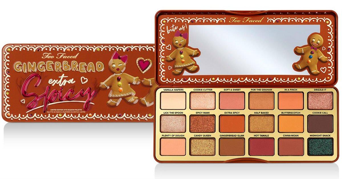 Paleta De Sombras Too Faced Gingerbread Extra Spicy Solo 29 50 En Macy S Reg 49