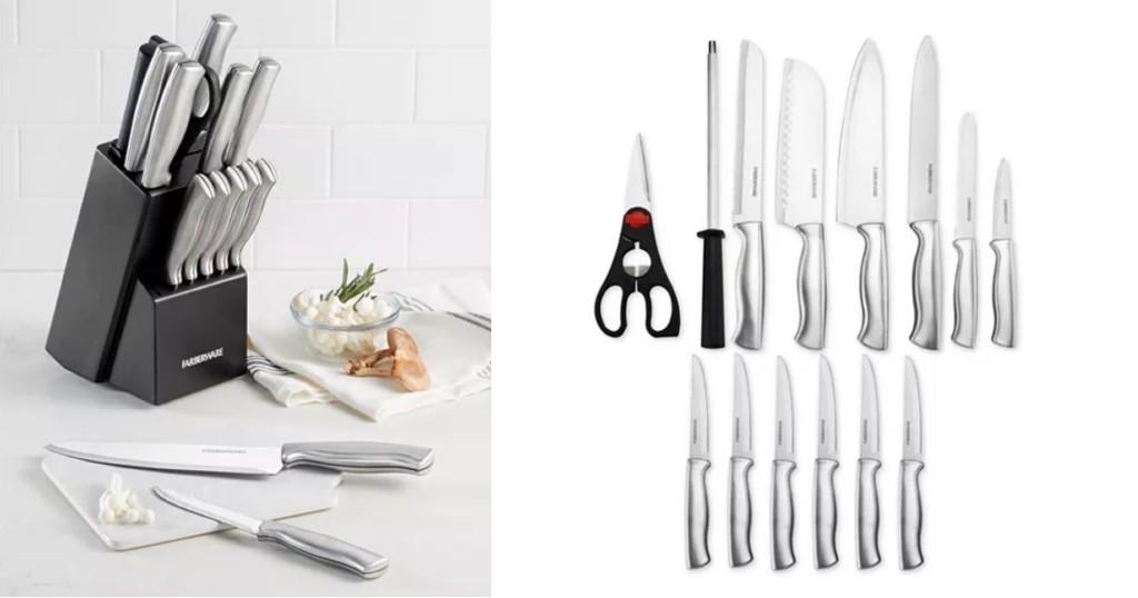 Lee más sobre el artículo Set de Cuchillos Farberware 15pc a solo $28.99 (Reg. $70) en Macy's