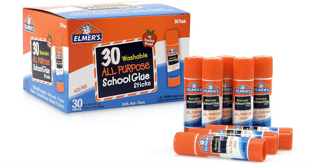 Lee más sobre el artículo Elmer's All Purpose School Glue Sticks 30-Pack SOLO $6.37 (Reg $15)