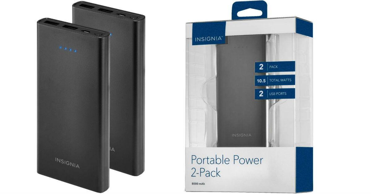 Cargador Portátil Insignia 8,000 mAh 2-Pack SOLO $19.99 en Best Buy (Reg. $40)