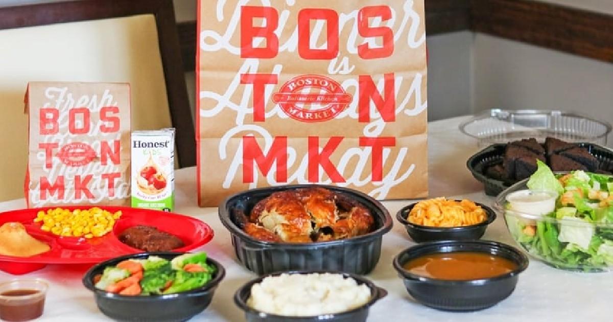 Comida Individual GRATIS en Boston Market con la Compra de Comida y Bebida