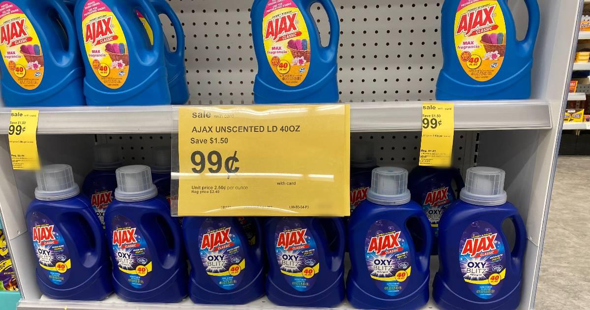 Detergente liquido Ajax de 40 oz SOLO $0.99 en Walgreens