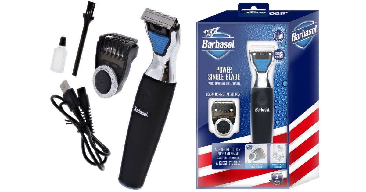 Máquina de Afeitar Eléctrica Recargable Barbasol a solo $24.99 en Best Buy (Reg. $40)