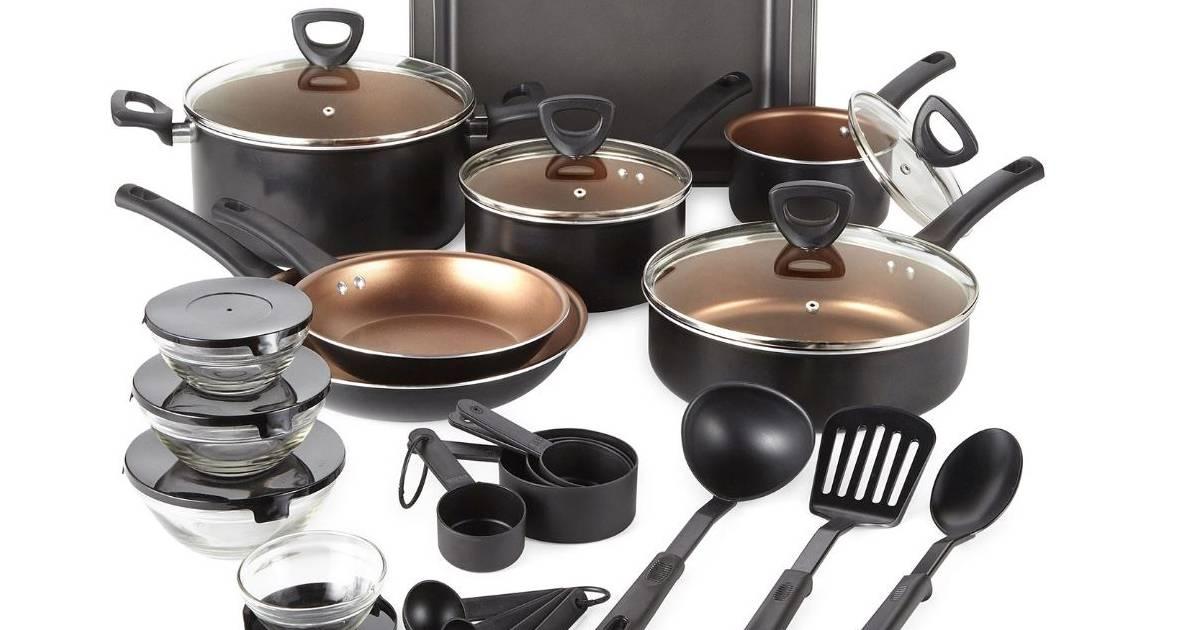Set de Cocina Cooks de 30-Piezas SOLO $59.99 en JCPenney (Reg. $160)
