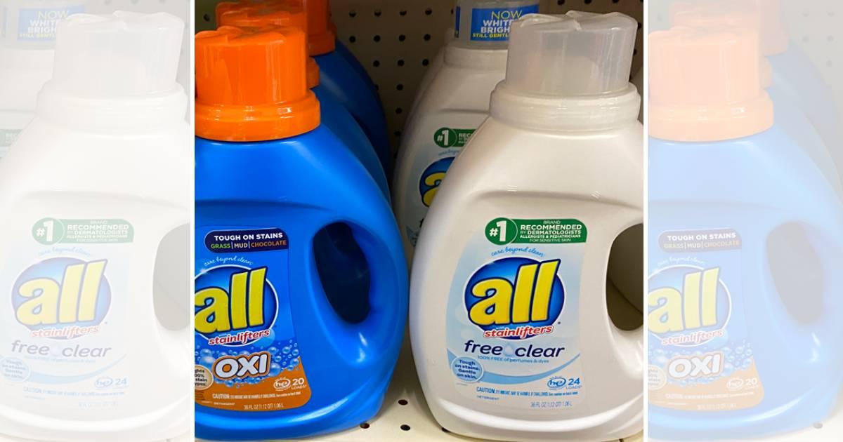 Detergente liquido All a solo $1.99 en CVS