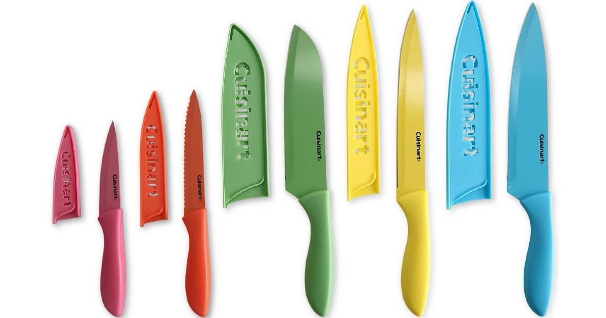 Set de Cuchillos Cuisinart de 10-Piezas a solo $10.49 en Macy's (Reg. $40)