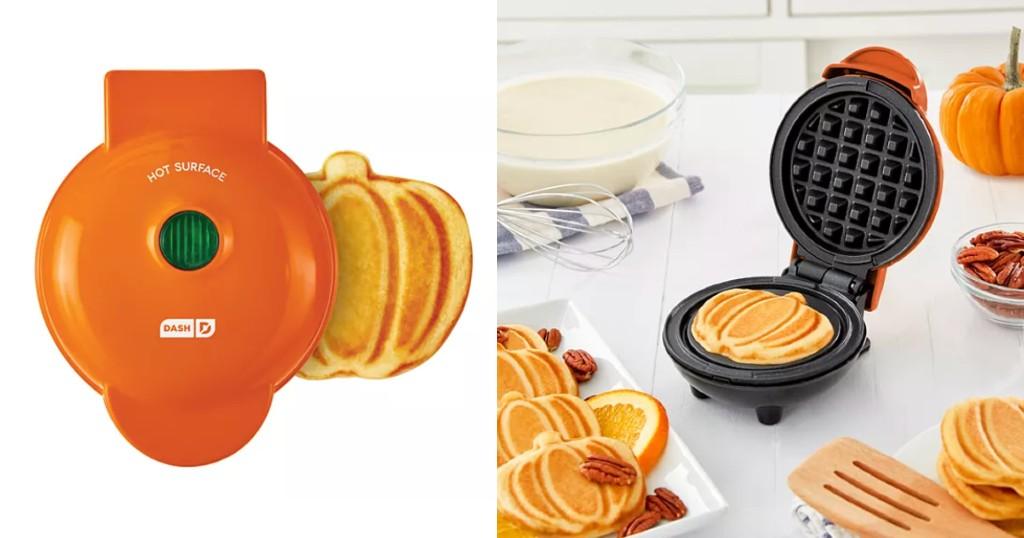 Dash Mini Pumpkin Waffle Maker a solo $12.99 (Reg. $20) en Kohl's