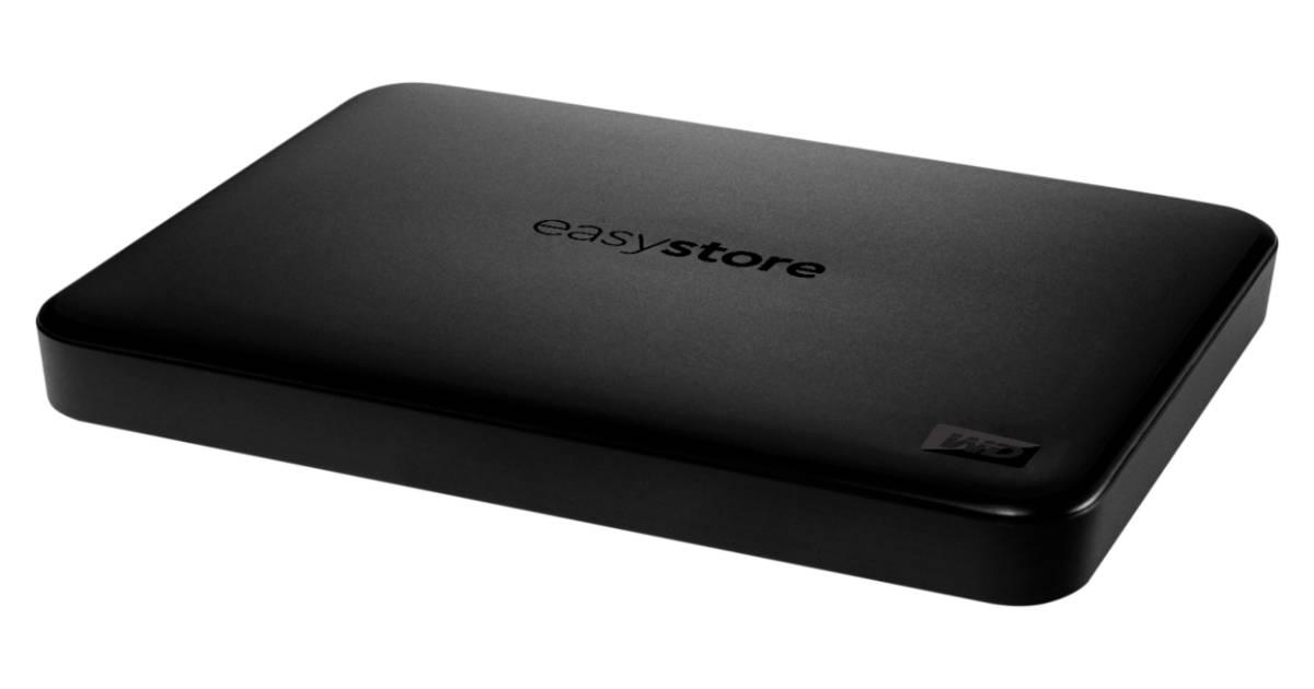 Unidad de Disco Duro Externo USB 3.0 WD Easystore 2TB SOLO $56.99 en Best Buy (Reg. $110)