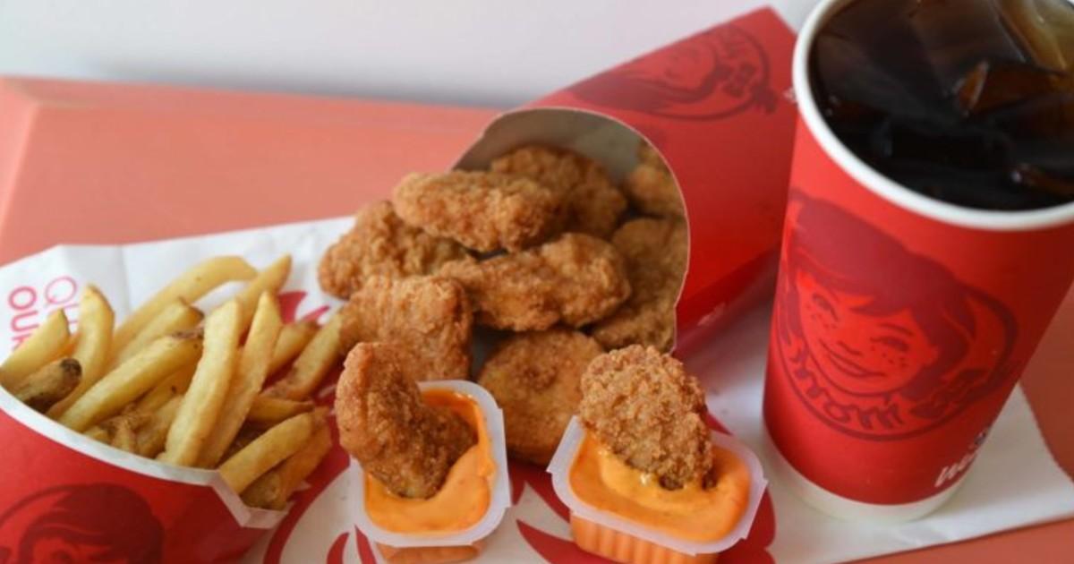 Nuggets de 10 Piezas GRATIS con Cualquier Compra en Wendy's