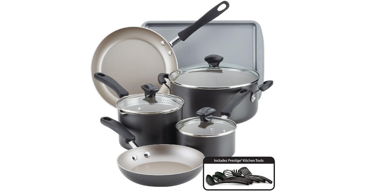 Set de Cocina Farberware 15-Piezas SOLO $44.49 – Después de Rebate (Reg $120) + Gana Kohl's Cash