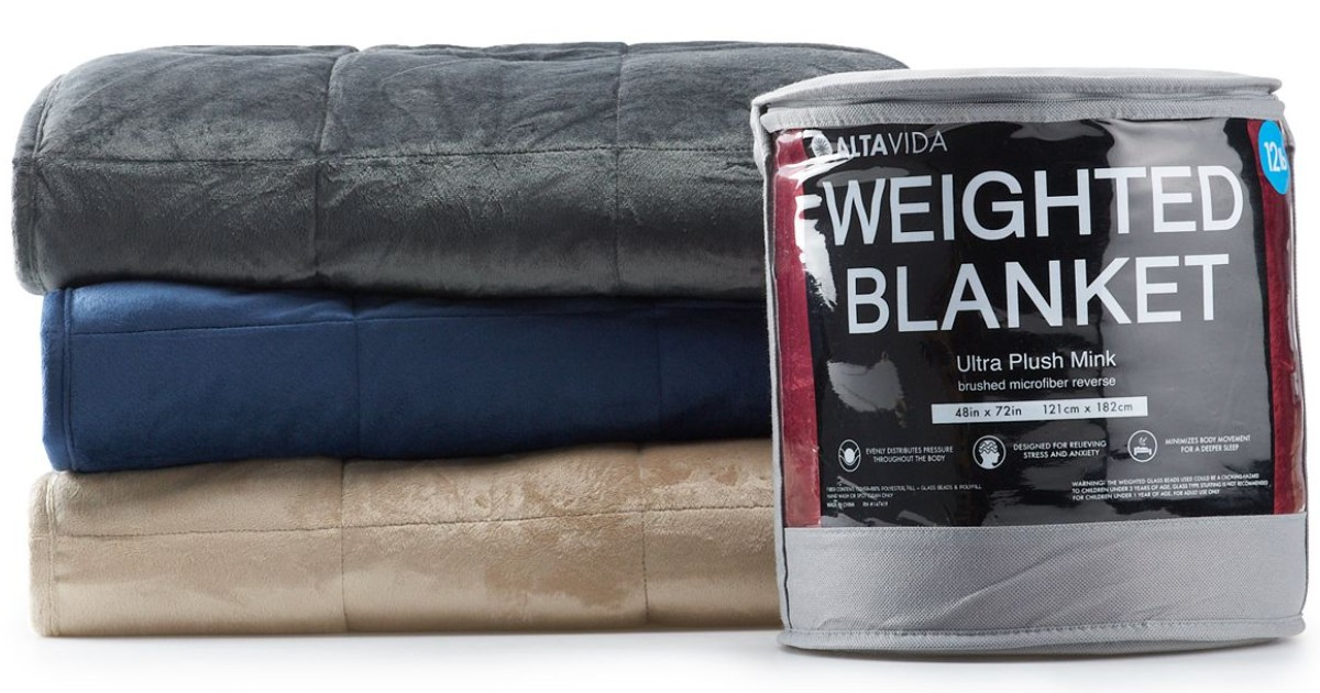 Altavida 12-lb Ultra Plush Blanket SOLO $21.24 en Kohl's (Reg $80)