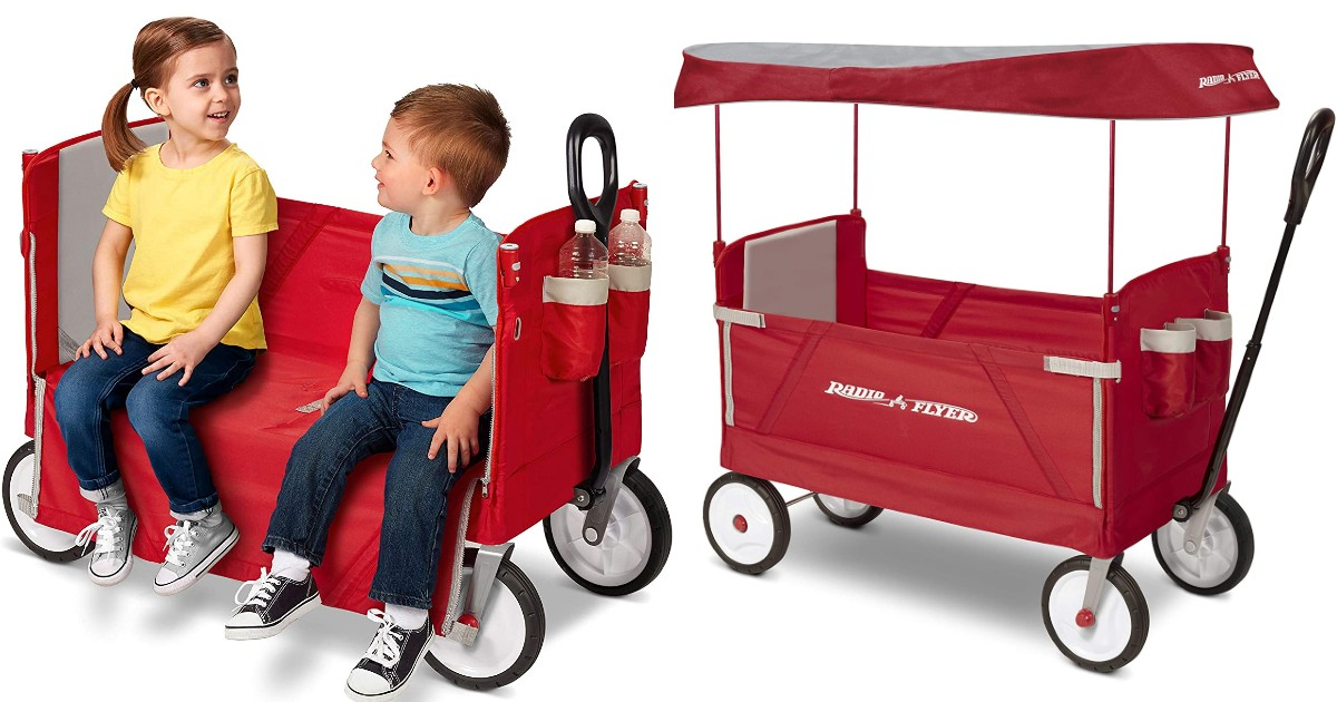 Radio Flyer 3-in-1 EZ Fold Wagon con Canopy SOLO $79 con Envio