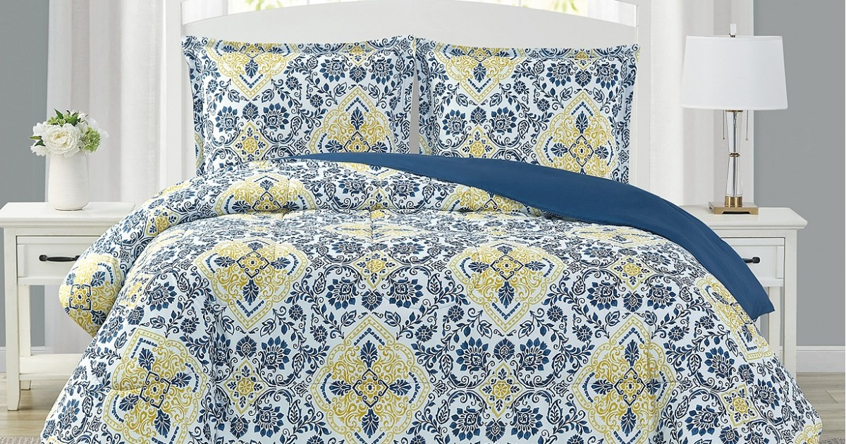 Set de Comforter Mytex Deena Reversible de 3-Piezas SOLO $18.99 en Macy's