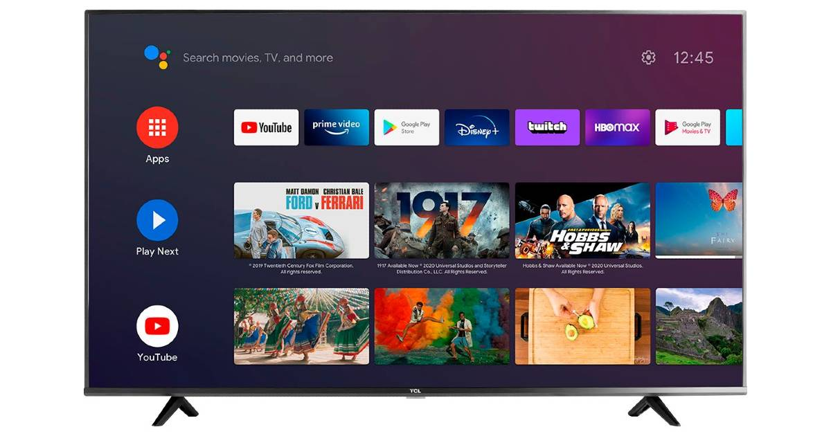Televisor TCL LED 4K Smart Android 55″ a solo $249.99 en Best Buy (Reg. $400)