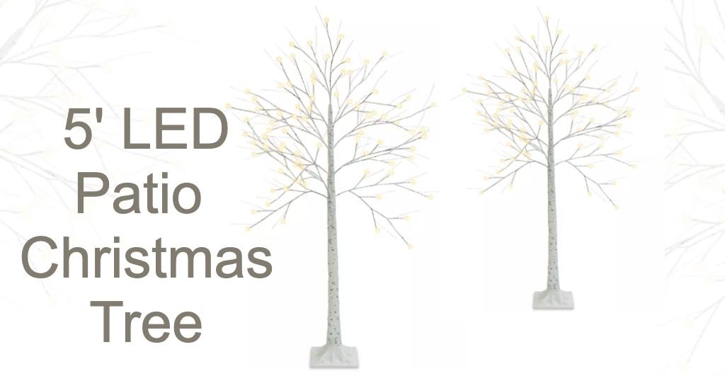 Arboles Decorative 5' Patio Birch LED Christmas Tree