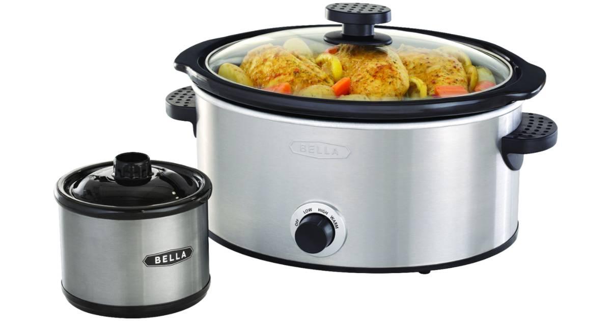 Olla de Cocción Lenta Bella 5-Qt incluye Dipper a solo $17.99 en Best Buy (Reg. $40)