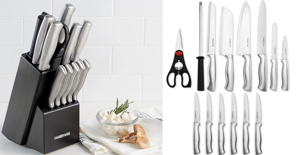 Lee más sobre el artículo Set de Cuchillos de 15-Piezas Farberware SOLO $28.99 en Macy's (Reg $75)