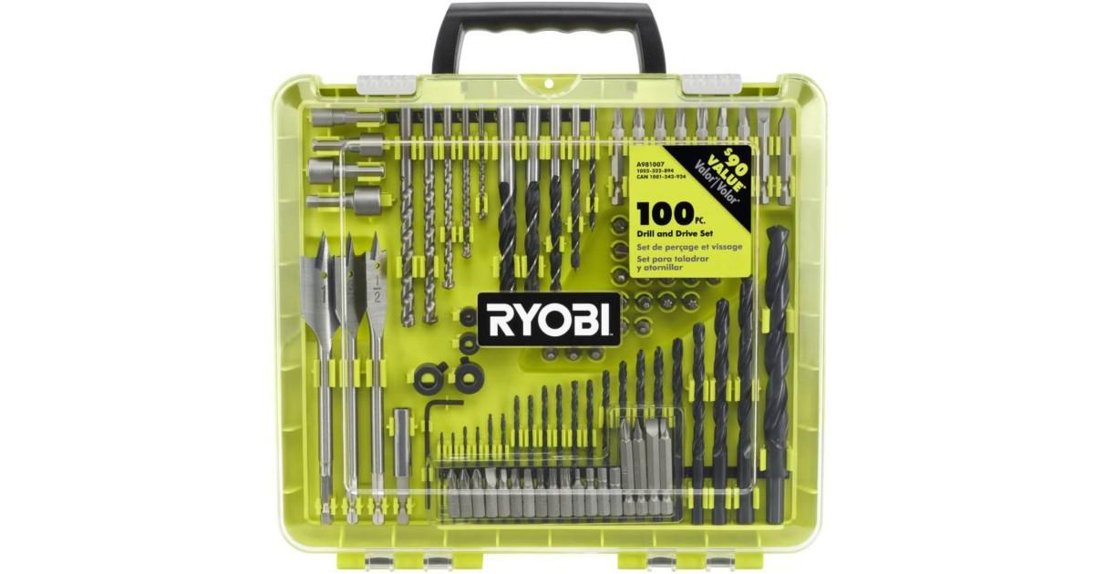 Juego de 100-Piezas para Taladro Ryobi SOLO $14.88 en Home Depot (Reg 90)