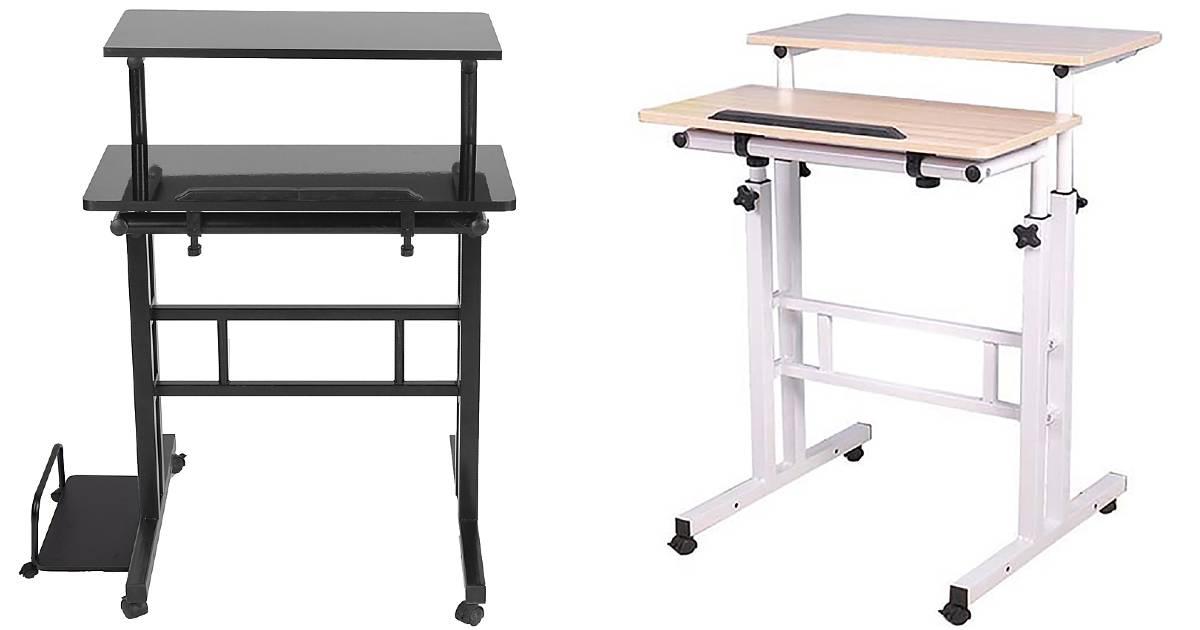 Mind Reader 2 Tier Sit and Stand Desk a solo $69.99 en Best Buy (Reg. $100)