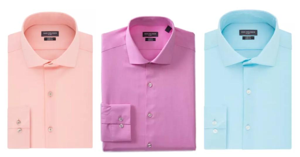 Camisas Van Heusen Slim Fit Flex Stretch Solid a $9 (Reg. $55) en Belk