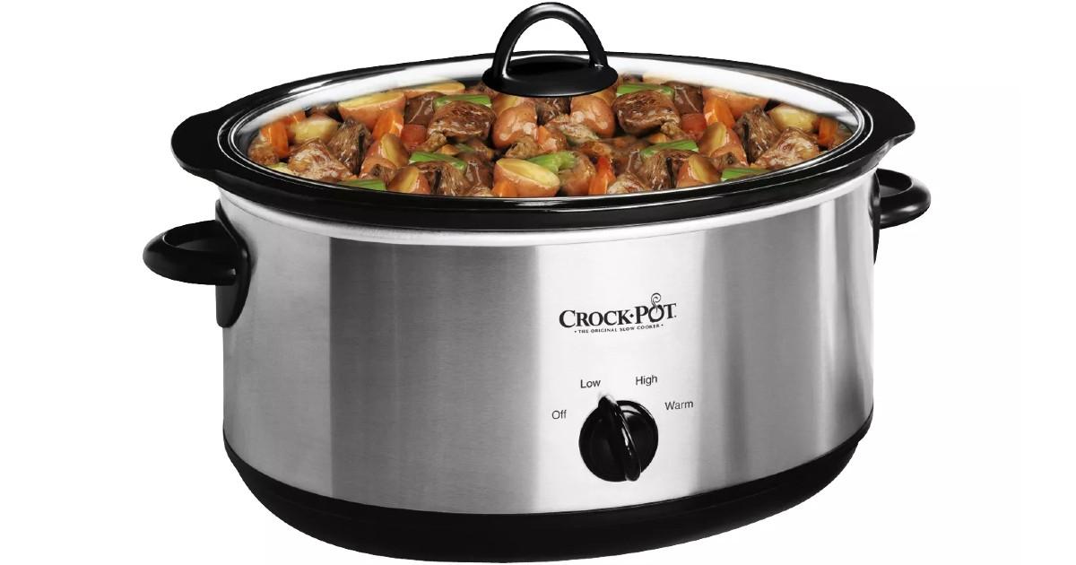 Crock-Pot 7qt Manual Slow Cooker SOLO $24.99 en Target (Reg $35)