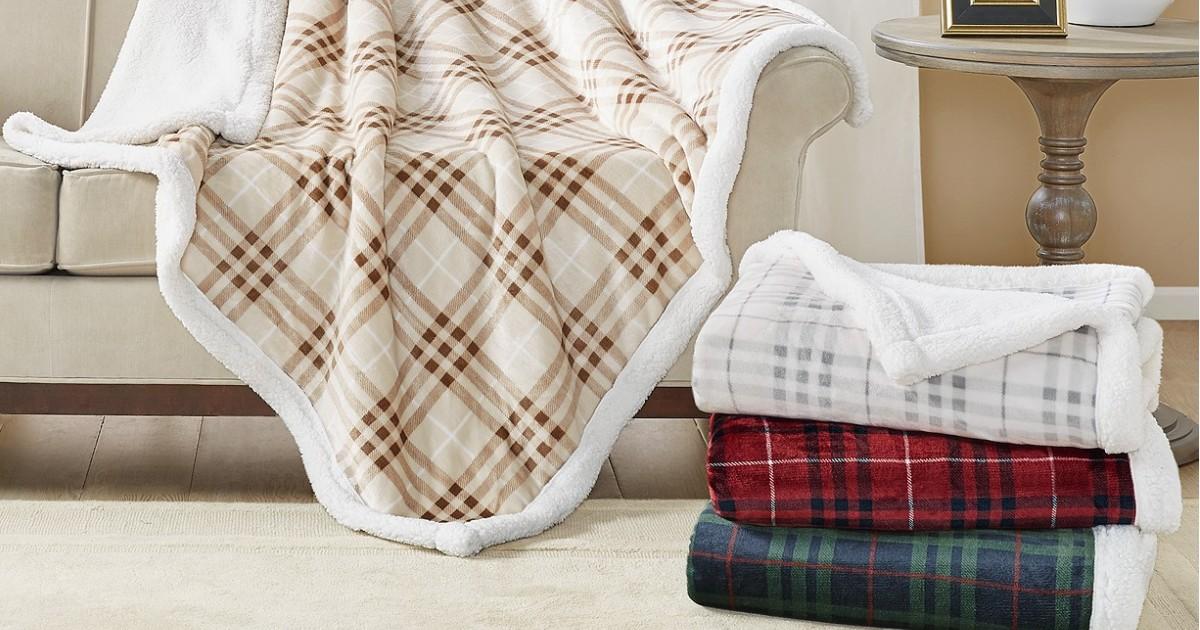 Manta de Sherpa Martha Stewart SOLO $20.99 en Macy's (Reg $60)