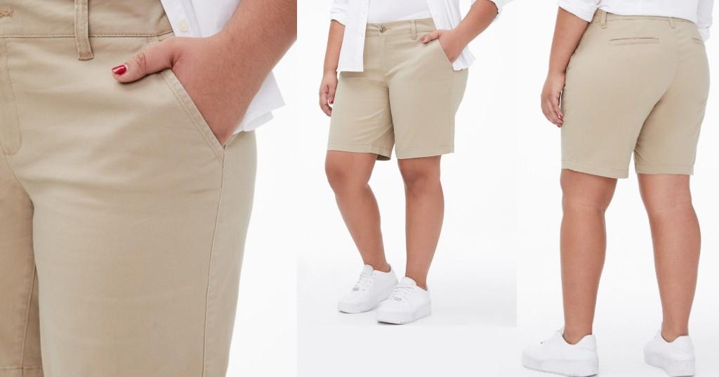 Pantalón Corto Curvy Uniform Bermuda a solo $9.99 (Reg. $39.50)