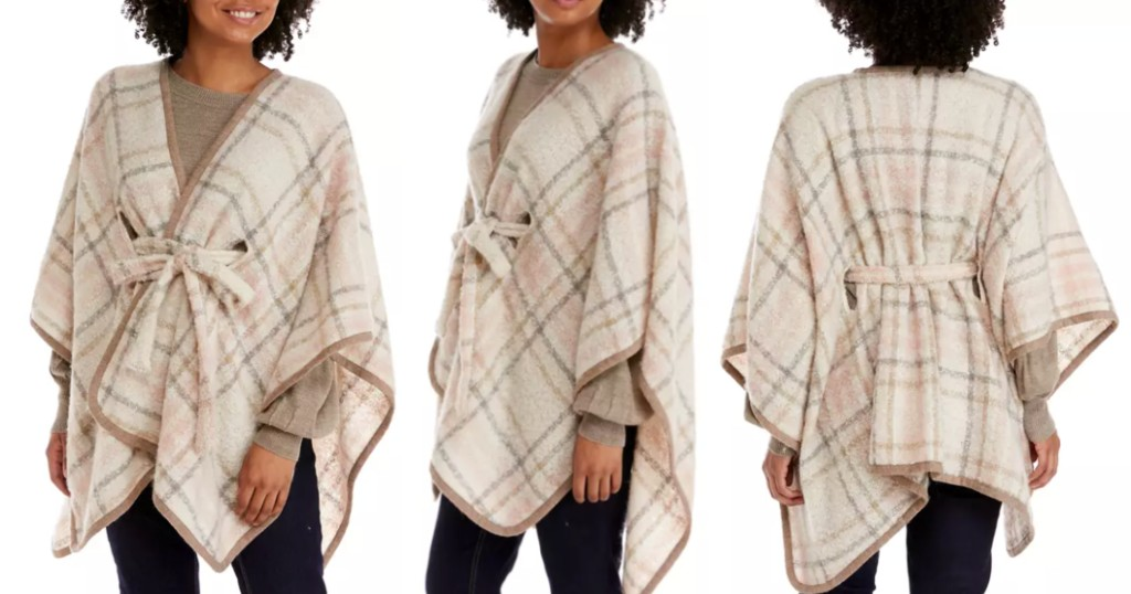 Poncho New Directions Belted Ruana a $24 (Reg. $60)