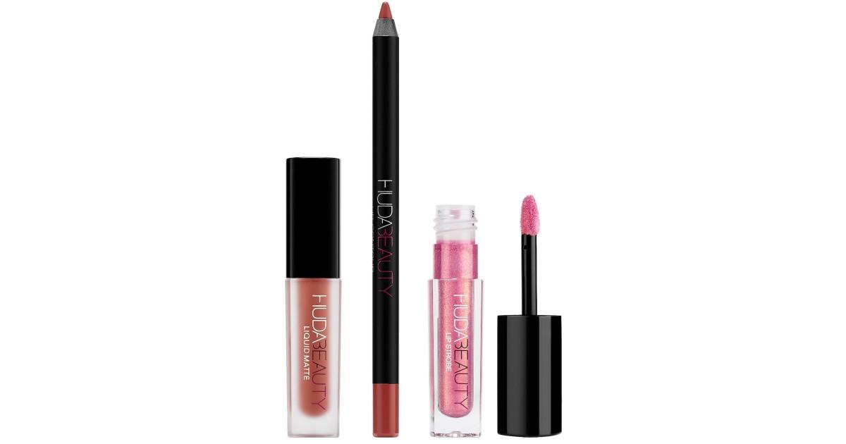 Lee más sobre el artículo Huda Beauty Lipstick Set de 3-Piezas SOLO $17.50 en Sephora (Reg $25)