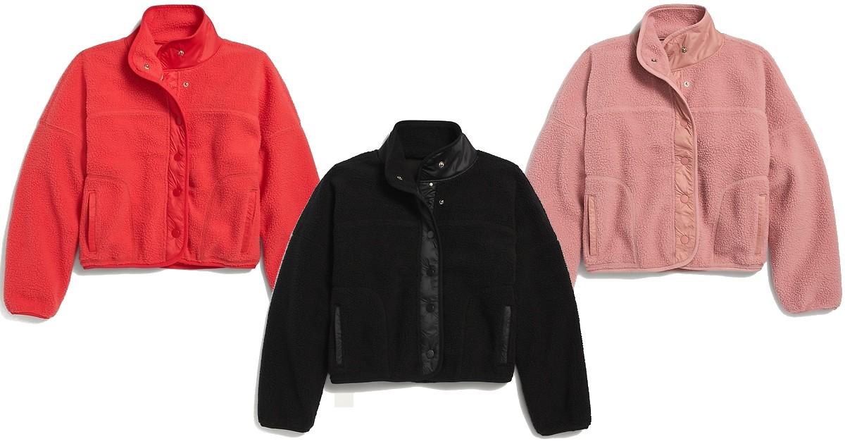 Lee más sobre el artículo Sherpa Jackets Para Niñas SOLO $10.50 en Old Navy (Reg $34)
