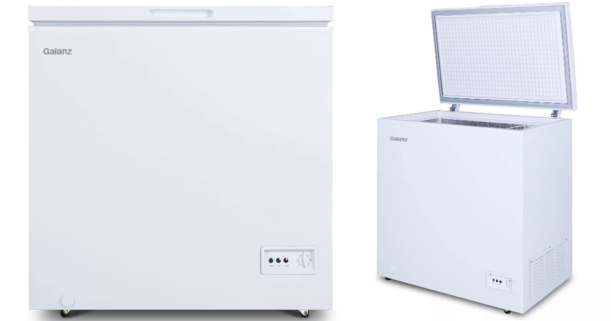 Galanz 5.0 cu ft Chest Freezer SOLO $129.99 en Target (Reg $180)