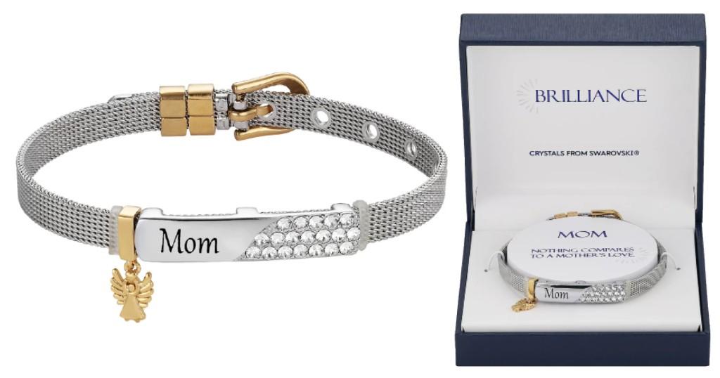 Pulsera Brilliance Mom Crystal con Swarovski a SOLO $18.69 (Reg. $50) en Kohl's